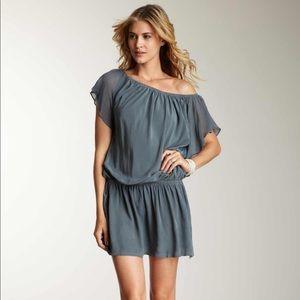 Gypsy 05 Flutter Sleeve Drop Waist Dress Silk L